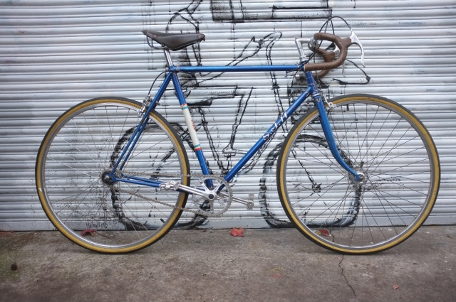 Classic 60's single speed, pimped with some great parts, Galli cranks, Dura-ace brakes etc