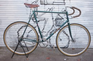 1950's Hartly track bicycle fully restored, Campag hubs, cranks and headset.