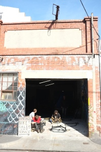 Front of the warehouse on Rose Street Fitzroy