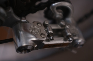 The rear derailleur from the Peugeot we restored, A Simplex super prestige