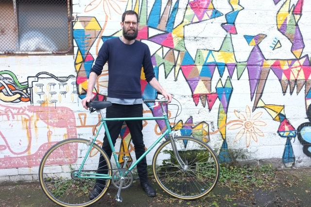 A groovy custom single speed we recently built up 'The Carl'. Big bike for a tall dude.
