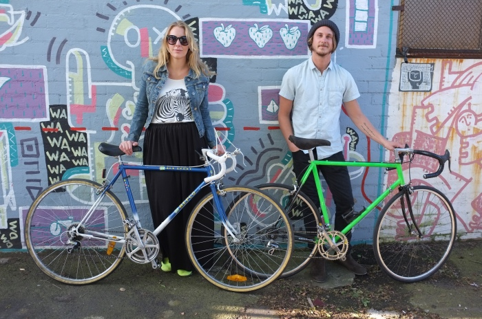 A lovely couple swept through the shop and grabbed a couple of sweet 80's racer style bicycles.