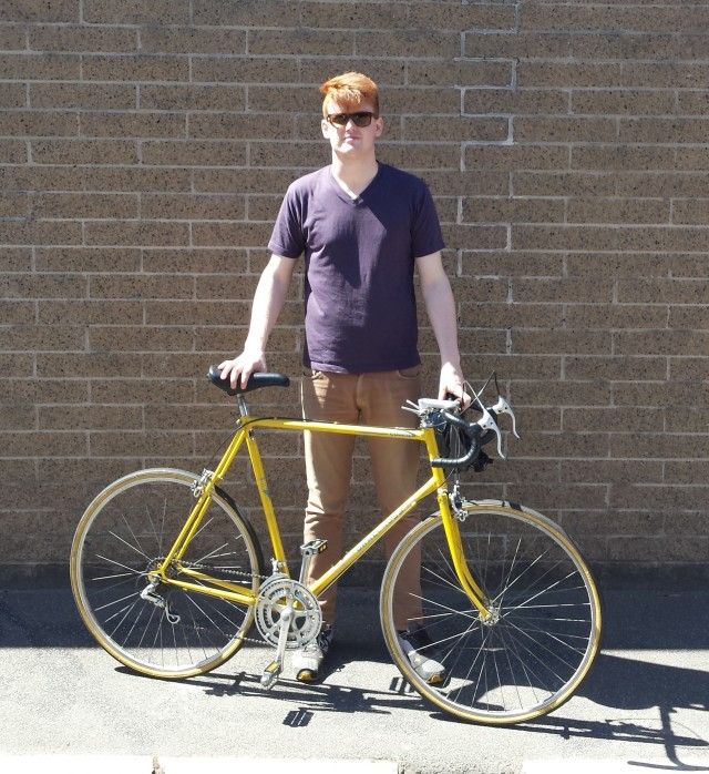 Big yellow cro-mo bicycle restored to original specs