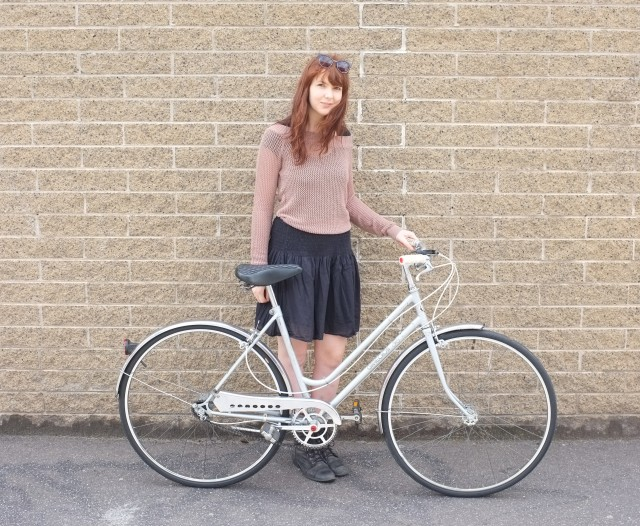A lovely Japanese step-through bicycle late 1970's with a lovely new owner