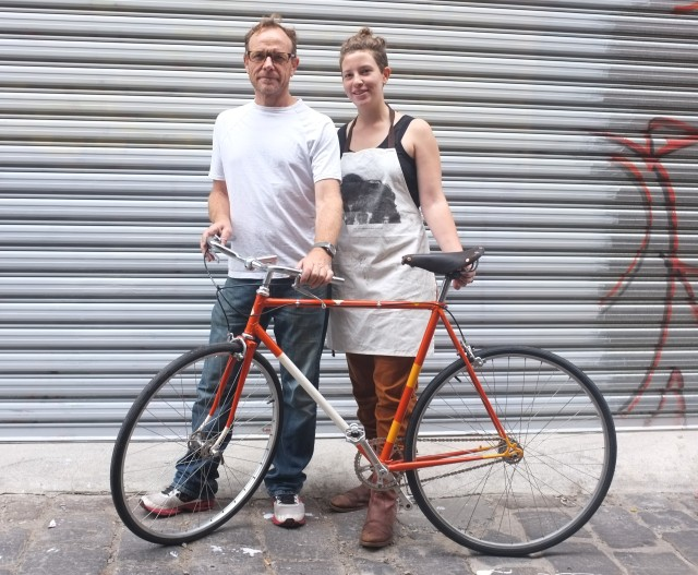 Ella and her rad Dad built up a sweet bike together, came out a treat.