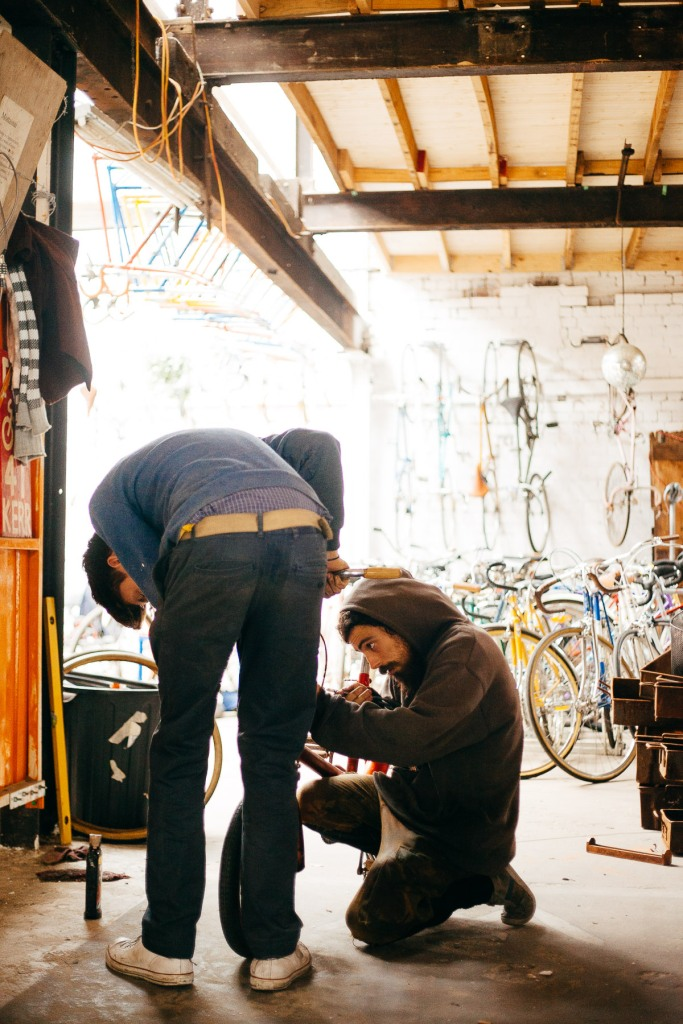mottainaicycles Collingwood, the lads doing something bike related