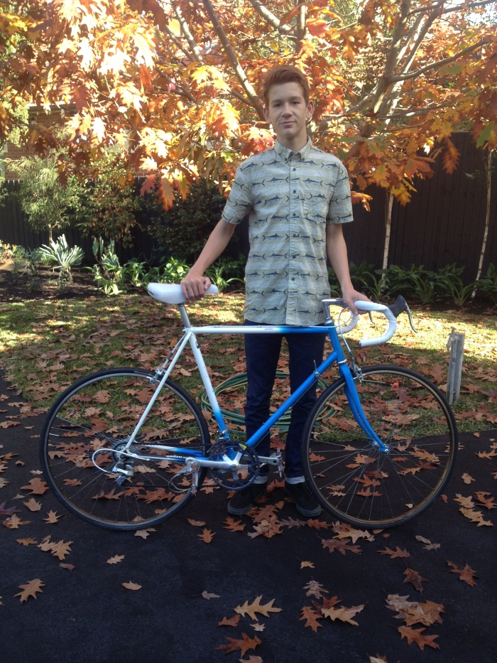 Restoration and custom build (Tange tubing with Shimano parts) from Mottainai Cycles in Collingwood Melbourne