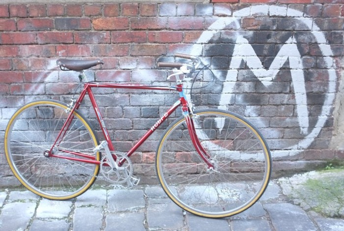 Beautiful 1950s custom handpainted cruiser the 'Rolfe'.  A Victorian classic