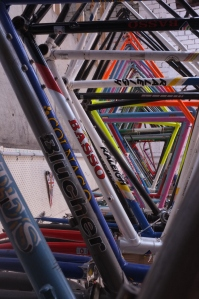 Here's some of our frames, ready to be picked out and built up...