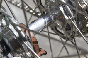 JA Holland: Campagnolo Record hub featuring our own hub shiner. Available now at Mottainai