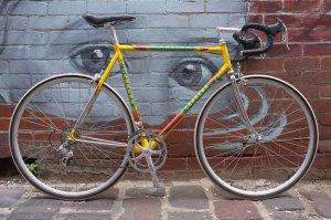 Beautiful Carrera with Campagnolo Veloce groupo. A new addition to our stable