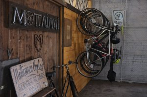 Staff bikes at Mottainai Cycles: fixie, mtb, road and single-speed – we ride it all!