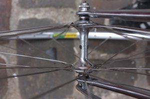 Campag Record hub and Mavic MA2 rim... The ultimate combo