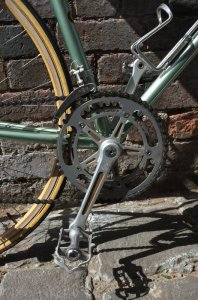 Campagnolo Gran Sport cranks on the Olmo