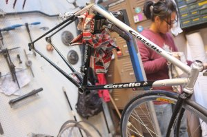 We encourage people wanting to learn about vintage bikes to come in and volunteer until they have a sound foundation of skills. Mottainai is a wonderful family that has spread around the world.